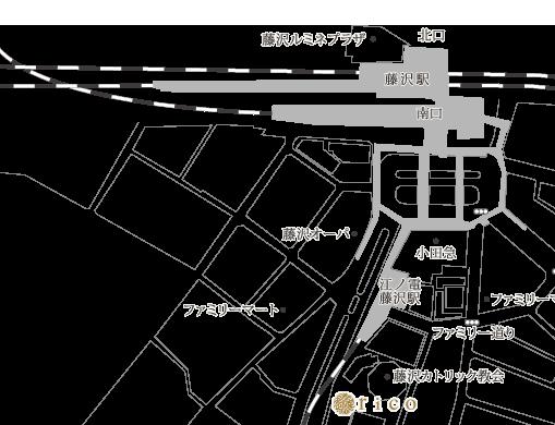 ヘアーサロンリコ アクセスマップ